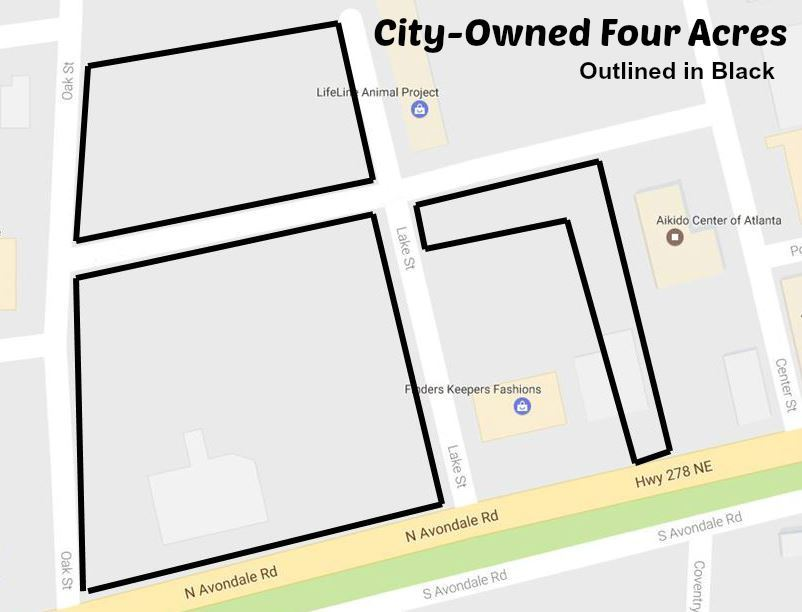 City-Owned Four Acres Map - May 2017
