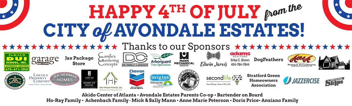 4th of July Sponsors Banner